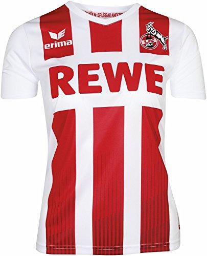 Erima 1. FC KÖLN Heimtrikot 2017/2018 für Damen in weiß/Rot, Größe: 36, Frauen (Köln Klassische Herren)
