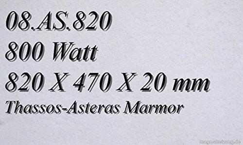 Infrarotheizung Marmorheizung Elektroheizung Infrarotheizkörper Magmaheizung 800 Watt 08.AS.820R mit hochwertigem Steckdosenregler mit 2 Kontroll-Leuchten, Schalter und Gradeinstellung für präzise Temperatursteuerung