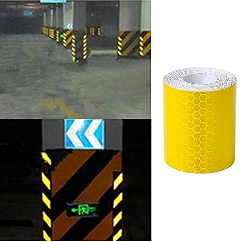 Fomccu 2pcs réfléchissant Sécurité avertissement ruban film autocollant Doré 3m X 5cm