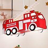 Feuerwehr Auto Hänge Leuchte rot Pendel Lampe Kinder Spiel Zimmer Beleuchtung Globo 15726 Vergleich