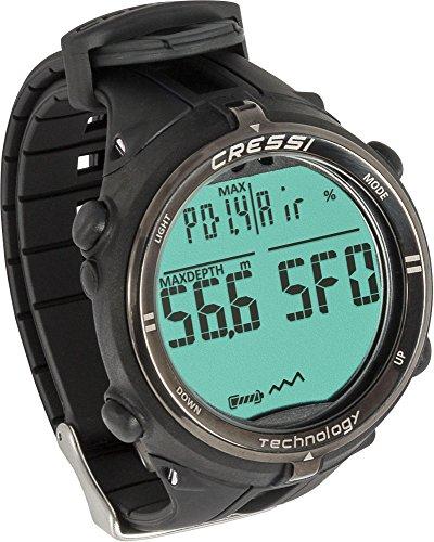 Cressi Dekompressionstauchcomputer Newton Titanium Watch, Schwarz, KS800055 (Tauchcomputer Cressi)