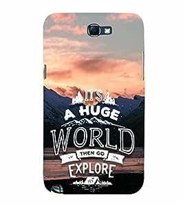 YuBingo Samsung Galaxy Note 2 :: Samsung Galaxy Note Ii N7100 Designer Phone Back Case Cover ( Explore the World )
