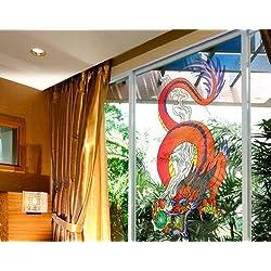Vinilo de ventana No.340 Dragon of Magic, Dimensione:269cm x 122cm