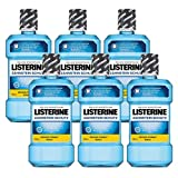 Listerine Zahnsteinschutz Mundspülung (ohne Fluorid, für natürlich schöne Zähne) 6er Pack (6 x 600 ml)