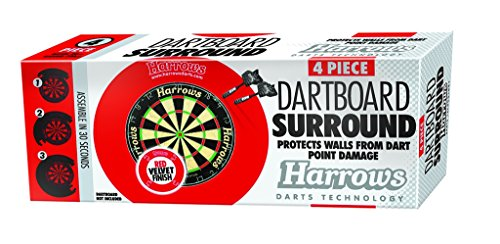 Harrows Dartboard Surround, 4-teilig, Rot