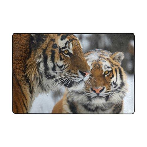 ingbags tigre salón comedor alfombra 3x 2pies cama habitación alfombra oficina alfombra moderno piso alfombra alfombras decoración del hogar, multicolor, 3 x 2 Feet