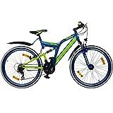 26 Zoll MTB Fully Galano Adrenalin DS Mountainbike STVZO Jugendfahrrad B-WARE, Farbe:dunkelblau