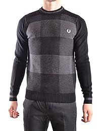 Fred Perry Homme MCBI128160O Gris/Noir Laine Sweatshirt