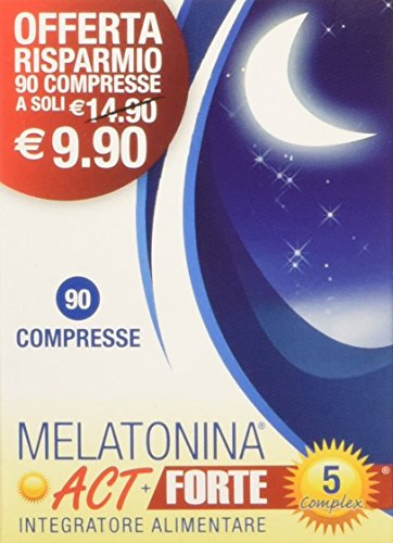 Linea ACT - Melatonina ACT+ Forte 5 Complex - Integratore Alimentare a base di Melatonina - 90 compresse