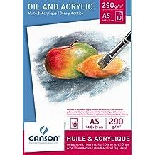 Canson 384309 Blocco per Olio e Acrilico