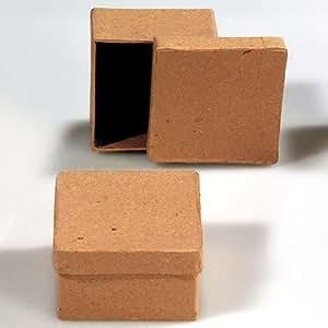 pappschachtel quadratisch mit deckel zum basteln und bemalen 7x7x4cm garten. Black Bedroom Furniture Sets. Home Design Ideas