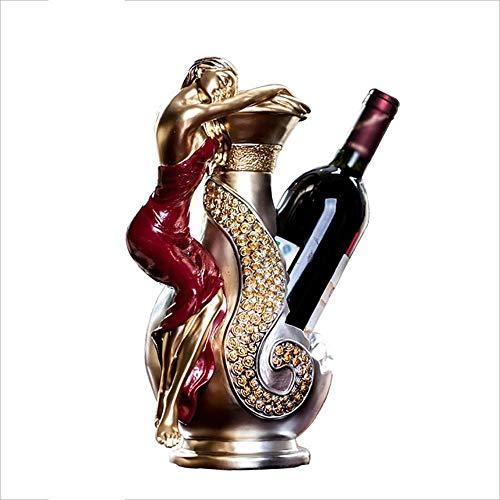 IF.HLMF Casier à vin européen, présentoir de Bureau de Cave à vin de Restaurant Artisanat créatif Bouteilles 32 * 20 * 15cm
