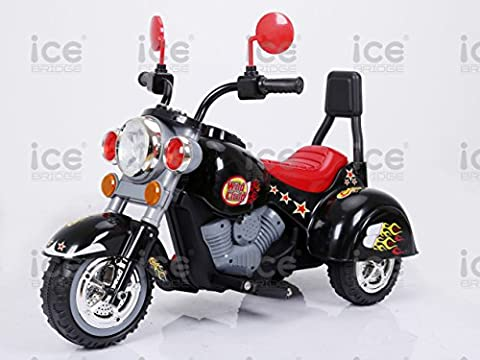 New 2017 Kids Motorbike Motorcycle Children Ride On Toy Car Kids Electric Scooter Motor Bicycle 6V Battery Operated Toy Trike White Red Yellow Black (Black)