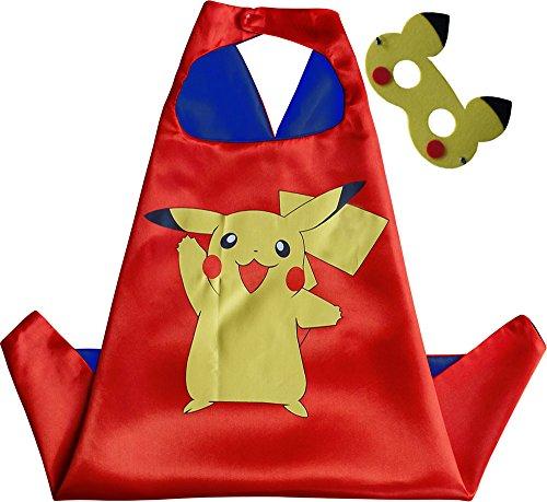 Pokemon Pikachu Kindes Umhang & (Abc Partei Kostüm)