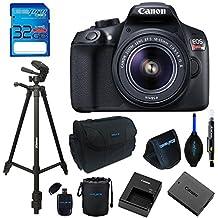 "Canon EOS 1300D / T6 EF-S 18-55mm 18.7MP CMOS 5184 X 3456 Pixels (Black) + 72"" Tripod + 32GB Memory Card Accessory Bundle"