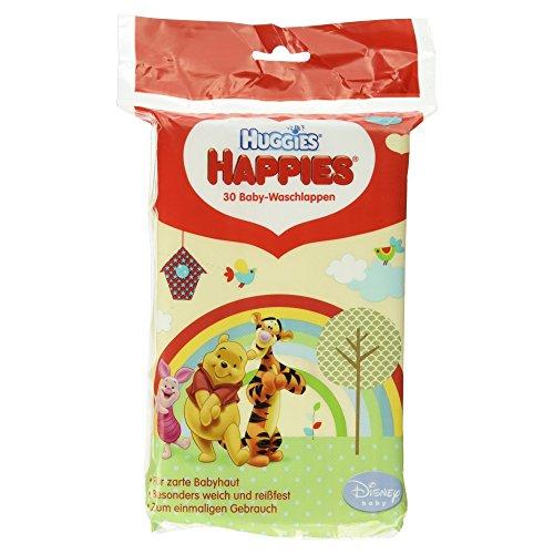Huggies Happies Baby-Waschlappen, 30 Stück