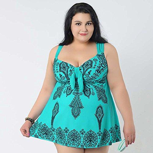 XL-übergewichtige Menschen kleiden einteilige Bikini-Badeanzug 68 l grün