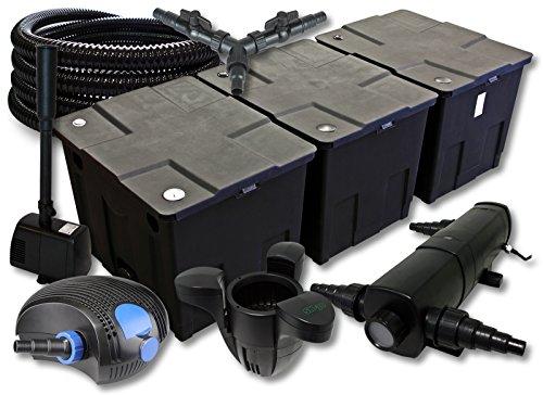 sunsun-filtro-set-90000l-stagno-con-24-w-chiarificatore-stagno-100-w-pompa-eco-25-m-tubo-skimmer-fon