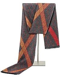 d4e81d921836 Xuanbao Echarpe Femme Etole Longue écharpe rayée de Gland de Mode Chaud de  Soie de Simulation pour Les Hommes - écharpe…