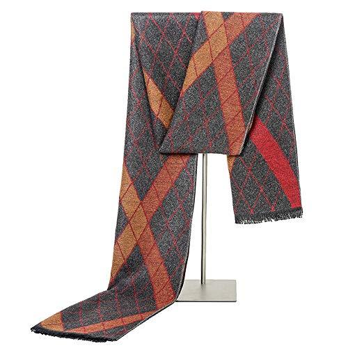 Sciarpa Uomo Moda Imitazione Sciarpa di seta autunno uomo inverno morbido e confortevole scialle lungo caldo di modo della sciarpa della nappa casuale di affari selvaggio Sciarpa Regalo perfetto
