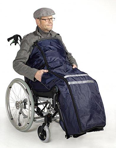 Rollstuhlsack Fußsack Schlupfsack Rollstuhl Sack warmes Innenfutter Webpelz Polyester