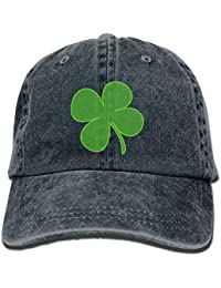 Walnut Cake Green Four Shamrock Leaf Washing Hat Dyed Cotton Sport Cl Denim Cowboy Cap