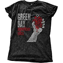 Green Day Damen T-Shirt American Idiot Vintage schwarz