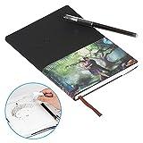 BAKTOONS Reusable Smart Notebook, Smartes Notizbuch mit Pilot-Friction-Stift, Wasserdicht 60 Seiten wiederverwendet bis zu 500 Mal (A - Black)