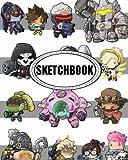 "Sketchbook : Overwatch 01: 120 Pages of 8"" x 10"" Blank Paper for Drawing, Doodling or Sketching (Sketchbook)"