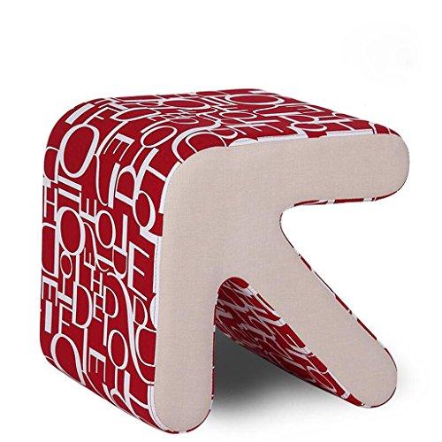 Xuan - Worth Having Fond Rouge Alphabet Motif Solide Bois flèche Tabouret Chaussures Chaussures en Cuir canapé Tabouret (Taille : 40 * 36 * 40cm)