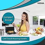 Nova NGS 2449 1000 Watt Panini Sandwich Grill Maker (Black/Grey)