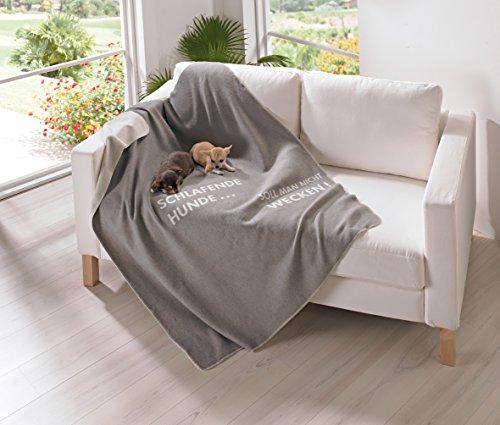 Fussenegger Haustierdecke Schlafende Hunde, grau/beige