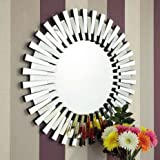 Venetian Design Flip Flop Wall Mirror Diameter : 30 Inches | Get 2 Rustic Golden Photo Frame + Jewellery Box + Table Clock Worth Rs 7500/- Absolutely Free With This Wall Mirror