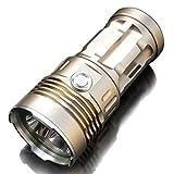 Siuyiu 6000 Lumen 3x XM-T6-Licht-Taschenlampen, Suchscheinwerfer gut verkaufen High Power gute Qualität Super T6 (Gold)
