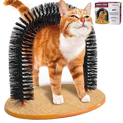 Zqstoryvi Bellezza Kitten Cat Arch Self Groomer Scratching Massaggiare Preparando Setole Pet Scratch Pulizia