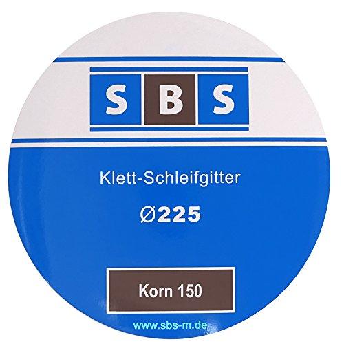 SBS Klett-Schleifgitter | Ø225 mm | Korn 150 | 25 Stück | für Langhalsschleifer Korn wählbar