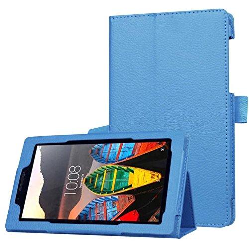 MuSheng(TM) Ultra Slim Flip Floding Leather Case Stand Cover For Lenovo Tab3 7 Essential(710F) (Blue)