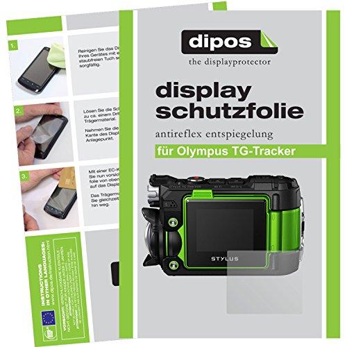 dipos Olympus TG-Tracker Schutzfolie (6 Stück) - Antireflex Premium Folie matt