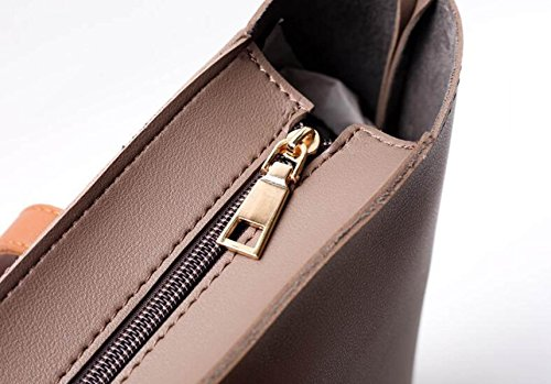 Damen-Taschen Europa Und Die Vereinigten Staaten Freizeit Portable Big Bag Stitching Hit Farbe Schultertasche Einkaufstasche Handtaschen B