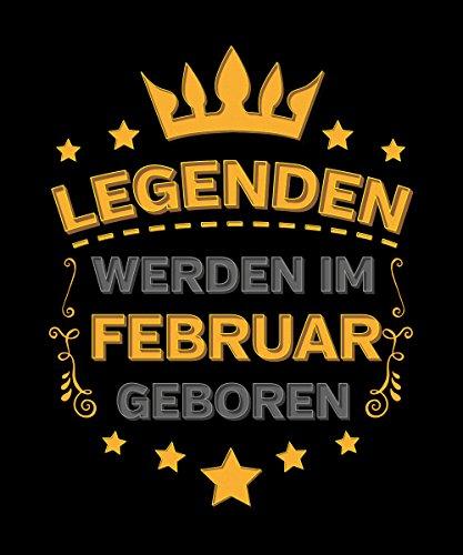 -- Legenden werden im Februar geboren -- Boys Kapuzenpullover Schwarz