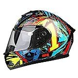 Motorrad Helm Mode Neu Robuste Crash Double Layered Racing Racing Voll Helme Bedeckte Elektromotor Motorrad Helm Vier Jahreszeiten Reiten Helm,E
