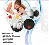 Vivo © Ultra Quick Non-Stick Electric Egg Boiler Cooker for up to 7 Eggs Stainless Steel construction produces 7 perfectly boiled eggs