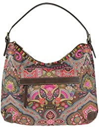 Oilily Hobo Bag Handtasche Winter Ovation in Indigo Biscuit oder Coffee Farbe:Coffee