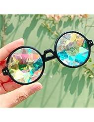 MOJINGYAN Sonnenbrillen,Kaleidoskop Gläser Mosaik Nacht Show Sonnenbrille Männer Frauen Holographische Sonnenbrille Rave Festival Cosplay Party Kinder Schwarz