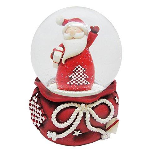 100 mm musical Père Noël Boule de neige Décoration de Noël