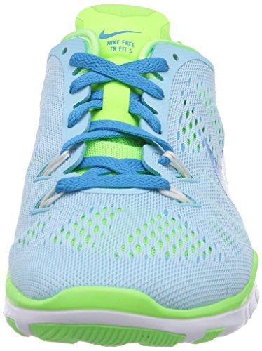 Nike Free 5.0 Tr Fit 5, Chaussures de Course Mixte Adulte Bleu (Stll Blue/Bl Lgn-Flsh Lm-White)