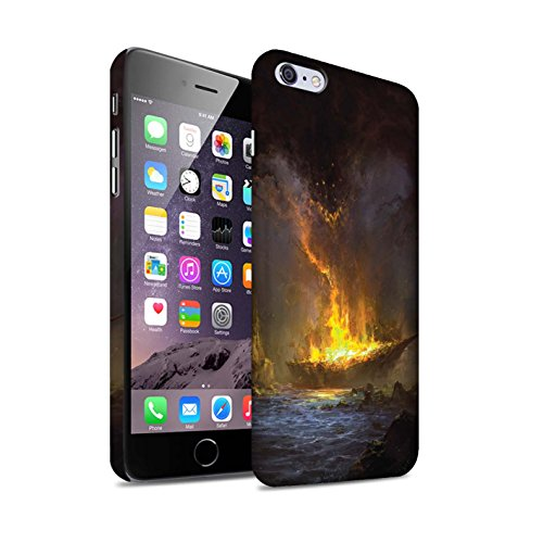 Offiziell Chris Cold Hülle / Matte Snap-On Case für Apple iPhone 6+/Plus 5.5 / Dragonfel Tempel Muster / Gefallene Erde Kollektion Schiffswrack