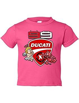 Camiseta niño Moto GP Jorge Lorenzo Ducati 99 angel y demonio