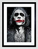 BATMAN JOKER HEATH LEDGER TATTOO INKED FRAMED ART PRINT BY W.MAGUIRE F12X10591