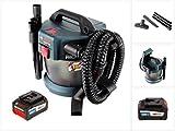 Bosch GAS 18V-10 L Professional Li-Ion Akku Staubsauger Nass- und Trockensauger + 1x GBA 6,3 Ah EneRacer Akku, ohne Ladegerät
